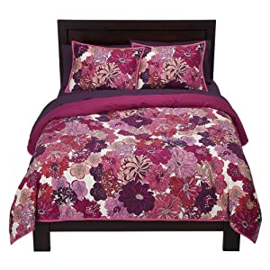 dorm bedding room essentials floral xl twin comforter set purple