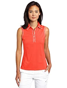 Adidas Golf Ladies Climacool Sleeveless Stretch Jersey Polo by adidas