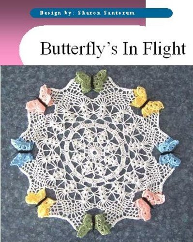 Spring Butterfly Doily crochet pattern