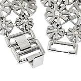 Badgley Mischka Women's BA1147MPSV Swarovski Crystal Accented Silver-Tone Bracelet Watch
