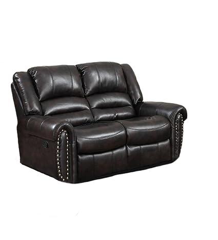 Casual Comfort Abigail Loveseat Sofa, Dark Brown