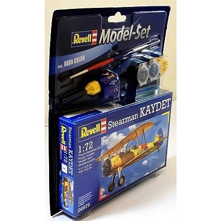 Revell Model Set - 64676 - Maquette - Stearman Kaydet - jaune - Échelle 1/72 - 29 pièces