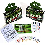Greed Dice Game _ Bundle of 2 Identical Games _ with 6 bonus white dice