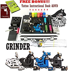 Amazon.com : GRINDER Complete Tattoo Kit by Pirate Face
