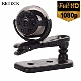 RETECK Mini Camera HD 1080P 6 Infrared Night Vision Motion Detection Portable Home Covert Security Surveillance Camera Nanny Cam (Color: Black, Tamaño: 0.86 Inch)