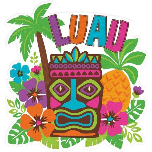 """15"""" Luau Tiki Cutout"""