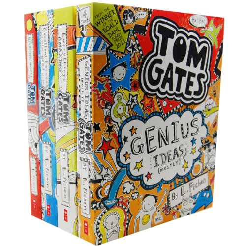liz-pichons-tom-gates-4-books-collection-pack-set-the-brilliant-world-of-tom-gates-excellent-excuses