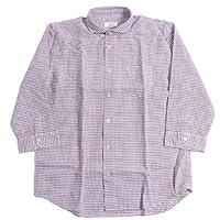 In'crewsive インクルーシブ ホリゾンタルカラー フレンチリネン ギンガムチェックシャツ 長袖 メンズ(男性用)