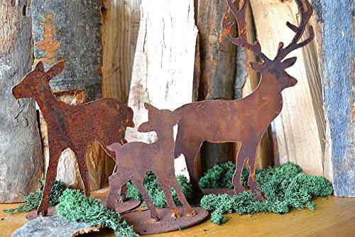 decorazione-cervo-famiglia-cervo-famiglia-ruggine-effetto-ruggine-invernale