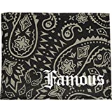 Famous Stars and Straps Mens Paisley Bones Bifold Wallet