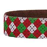 Blueberry-Pet-Christmas-Party-Fair-Isle-Style-Holiday-Season-Dog-Collar-with-Detachable-Bow-Tie