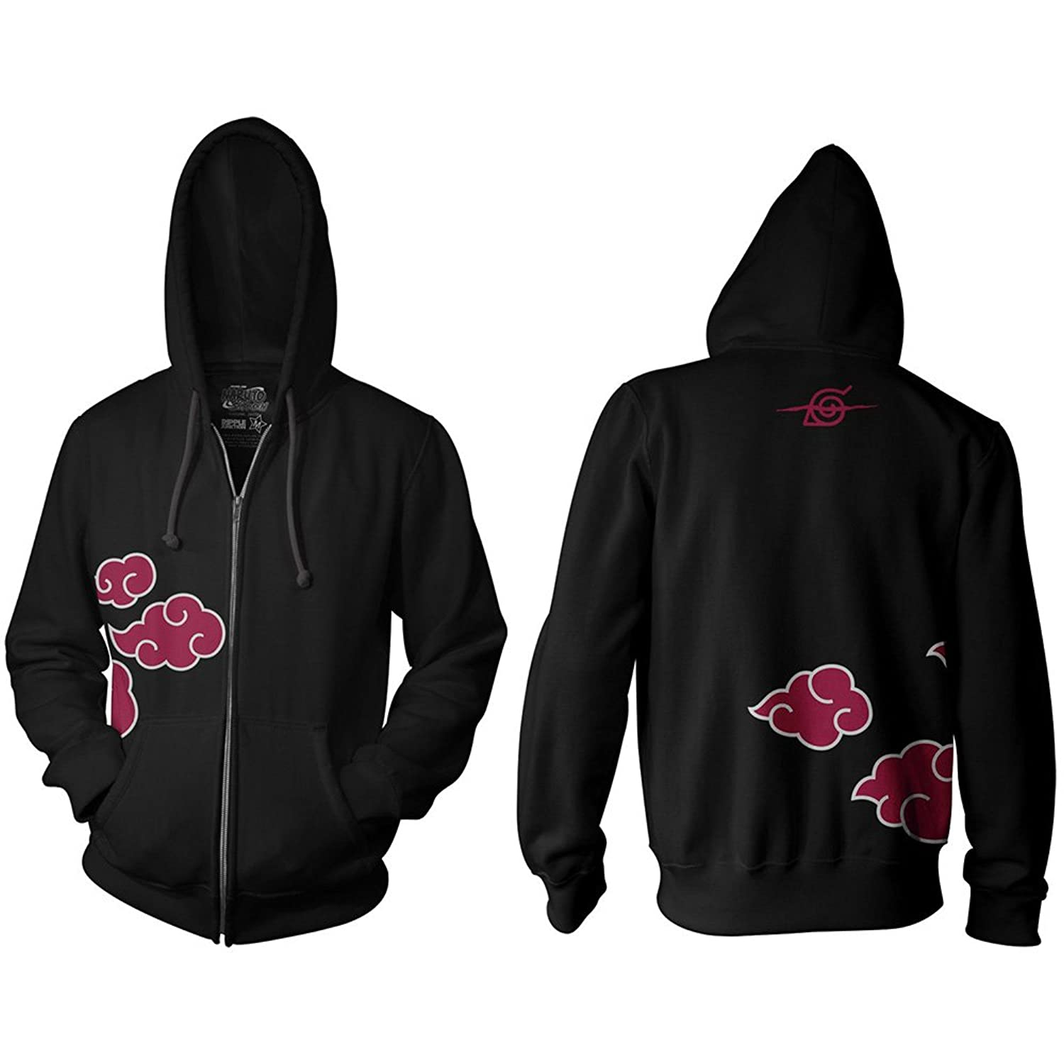 Naruto Shippuden Red Clouds Adult Hoodie