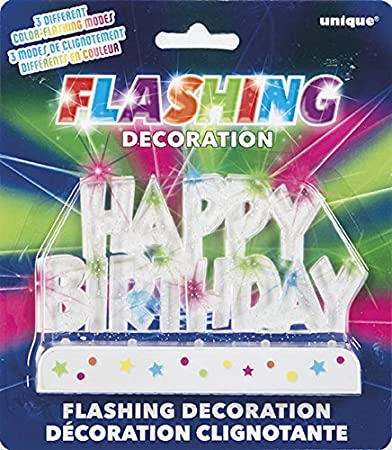 buy multicolor flashing happy birthday cake topper decoration on birthday cake toppers online india