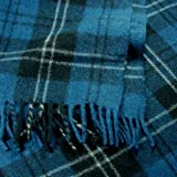 Ramsay Blue Tartan Wool Blanket Travel Rug