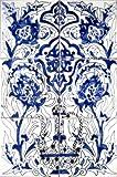 Decorative Ceramic Tiles: Hand Painted Mosaic Mural Kitchen Bath Patio Wall Décor Art 18 Inch x 12 Inch