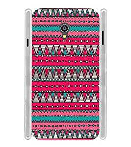 Pink Pattern Tribal Soft Silicon Rubberized Back Case Cover for Micromax Canvas Fire 4G Q411