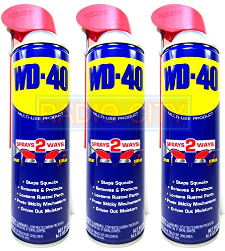 WD-40 14.4oz. Aerosol Can with Smart Straw (3-Pack) (Aerosol Can Straw compare prices)