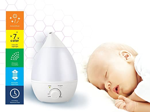 REMEDIES COOL-MIST ULTRASONIC HUMIDIFIER