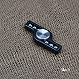 New Aluminum Alloy Hand Spinner Steel Ball EDC Finger Spinner Fidget Spinner (Black)