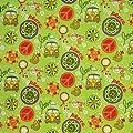 Wachstuch Breite 90 cm Länge wählbar - V W Bulli Grün Flower Power Lebensmittelecht - ECKIG Main abwaschbare Tischdecke Wachstücher Gartentischdecke von DHT-Wachstuch bei Gartenmöbel von Du und Dein Garten