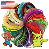 3D Pen PLA Filament 1.75mm (16 Colors, 20 Feet Each) Premium Flexible Non-Toxic 3D Printer Pen Assorted Plastic Refills, Includes 4 Glow in the Dark, 4 Fluorescent and 8 Basic Colors by GoodTime Toys