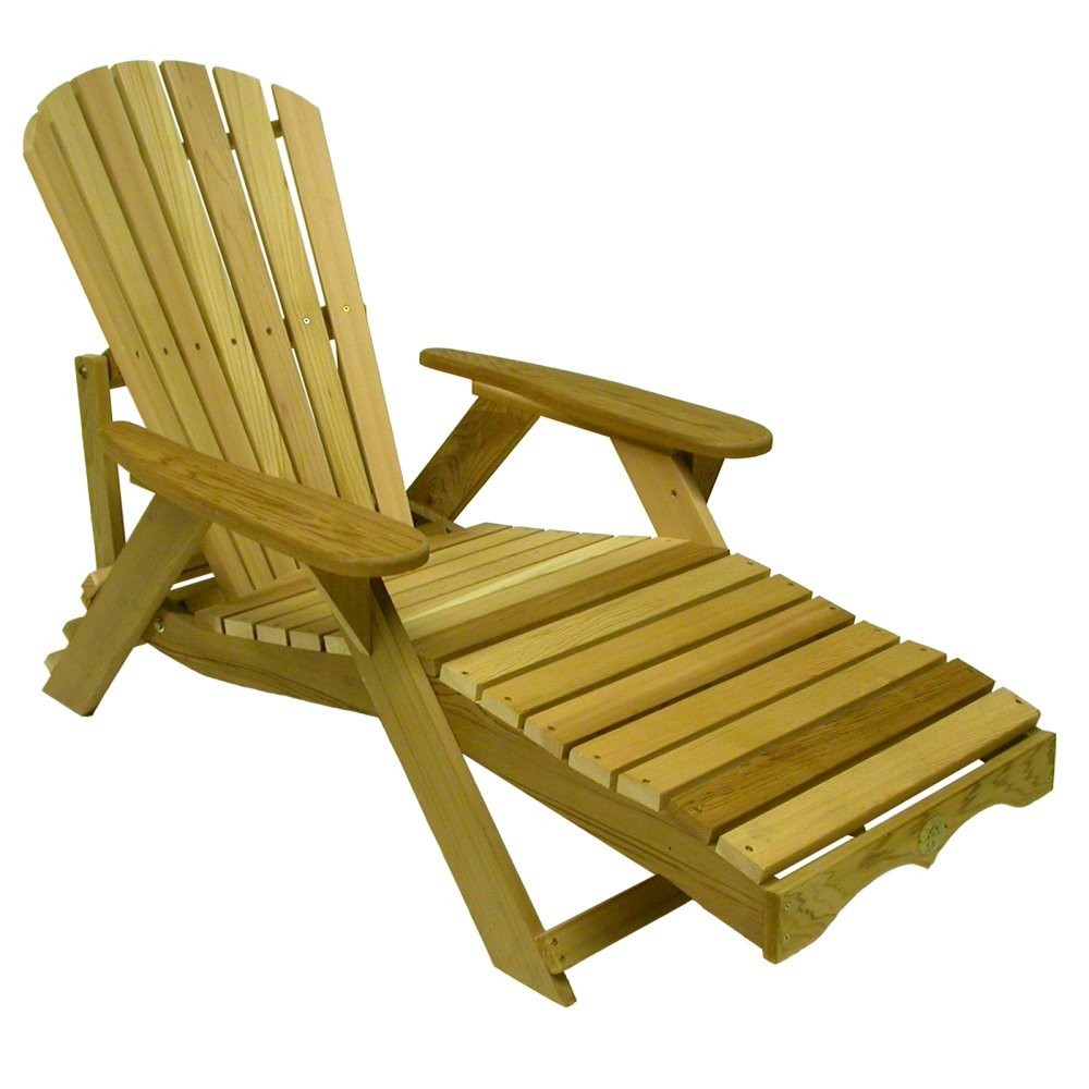 1 bear chair bc700c red cedar adirondack chaise lounge for Adirondack chaise