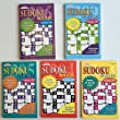 Kappa SUDOKU Puzzles Book (5 Volumes/Books) Digest Size In 5 languages: English, French and Spanish (5 Items)