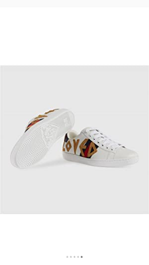 e0f80bd9a Simple-Gucci New Style Women's Shoes Leather Embroidery Small Bee Sports  Shoes Casual Shoes White Shoes ...