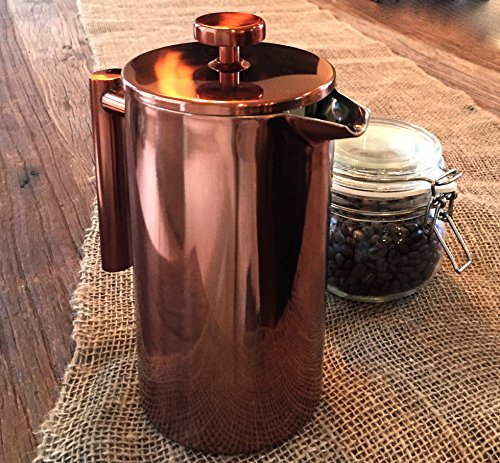 Starizzo Copper French Press Coffee Maker With Beautiful