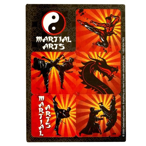 Martial Arts Sticker Sheets (4) Party Supplies