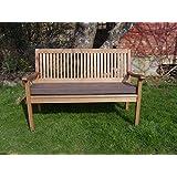 Coussin pour banc de jardin - Toile Marron - 5ft (152cm x 46cm x 6.5cm)