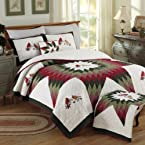 Cardinal Songbirds Quilt - King