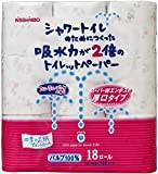 シャワートイレのためにつくった吸水力が2倍のトイレットペーパー フラワープリント香水付き 18ロール