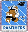 Carolina Panthers Woven Baby Blanket Throw - NFL Football Fan Shop Sports Team Merchandise