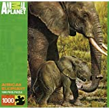 Masterpieces African Elephant Animal Planet Jigsaw Puzzle (1000-Piece)