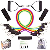 SmarterLife Resistance Band Set, Exercise Bands for Working Out - Includes Stackable Workout Bands, Handles, Ankle Straps, Door Anchor, Carry Bag & Bo