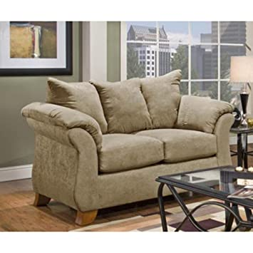 Payton Polyester Transitional Loveseat