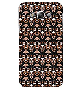 SAMSUNG GALAXY E7 FACE PATTERN Designer Back Cover Case By PRINTSWAG