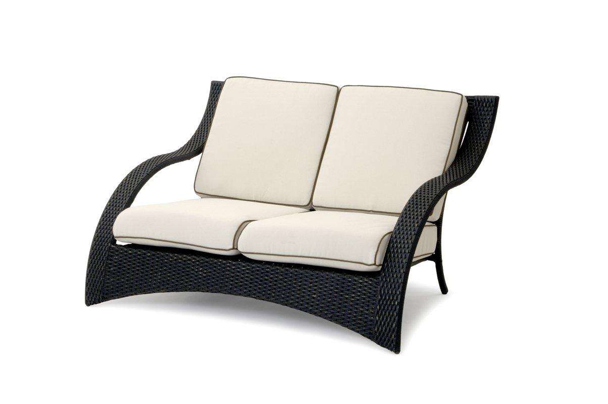 Garvida 2er Sofa Venezia - Farbe: Schwarz