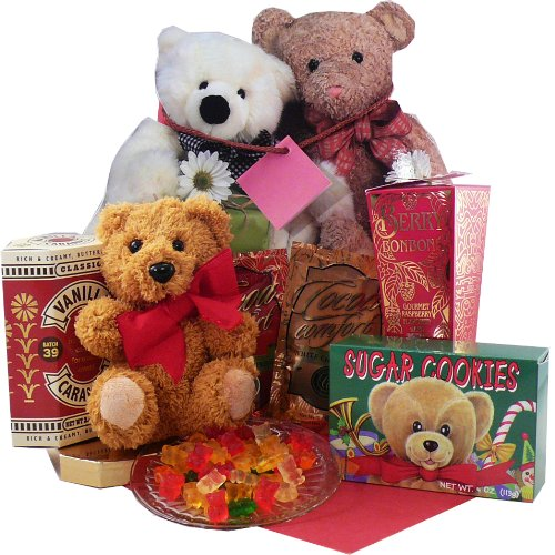 Bear Hugs For You Gift Tote of Sweets and Treats with Teddy Bear