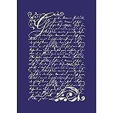 RAYHER 45067000, Vintage Poesie, DIN A5, 1 Schablone mit 1 Rakel im SB-Btl.