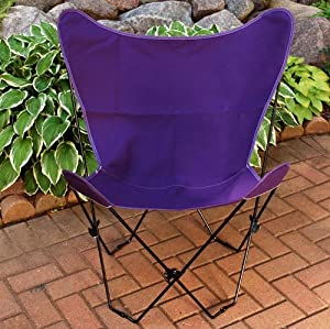 Amazon Com Retro Folding Butterfly Chair And Violet