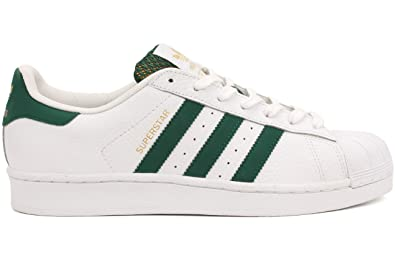 Adidas Superstar White Green Gold