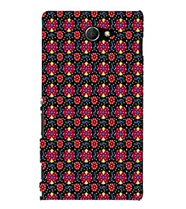 EPICCASE flowery knots Mobile Back Case Cover For Sony Xperia M2 (Designer Case)