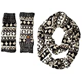 Muk Luks Women's Heritage Chunky-Knit Infinity Scarf and Arm Warmer Set