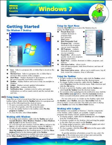Windows 7 Quick Source Guide