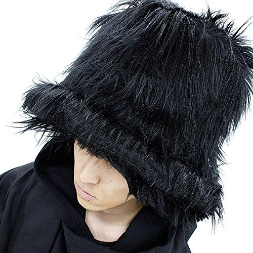 (アンコロック)ankoROCK ファーハット ファー帽子 マウンテンハット 黒 ブラック