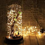 [8 Mode 33ft 100 LED] Solar String Lights Outdoor Warm White, Solarstar Starry String Lights Copper Wire Lights for Garden, Patio, Party, Wedding, Christmas Tree, Halloween