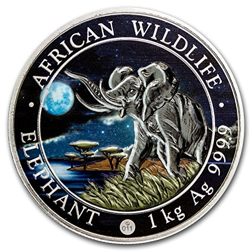 2016 DE Somalia 1 kilo Silver Elephant (Giant Moon)