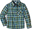 NAME IT Boy's Vohn Mini LS Shirt Checkered Shirt, Multicoloured (Blithe), 3 Years (Manufacturer size: 98)